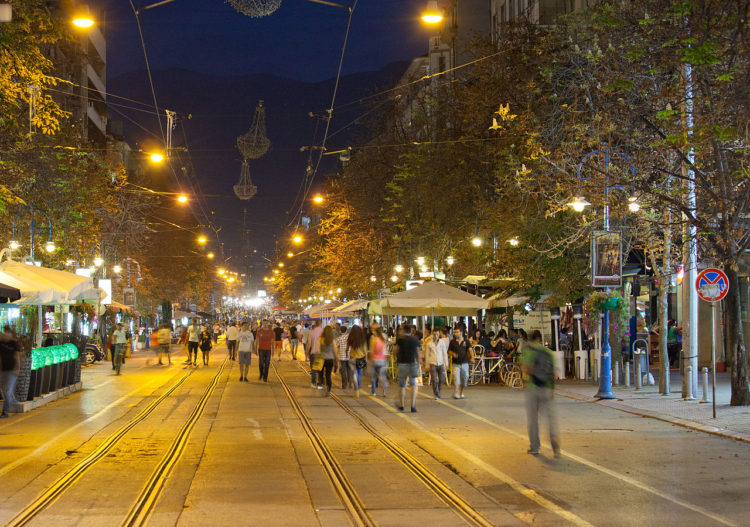Boulevard Vitosha at night